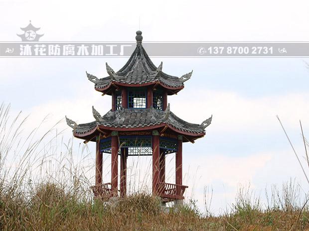 苗王城重檐六角亭
