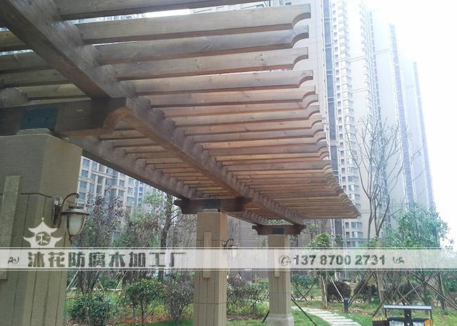 中海国际---弧形单双排花架