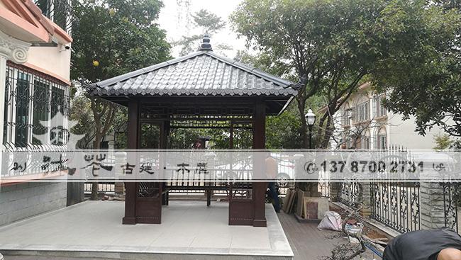 御景龙城现代凉亭四角亭