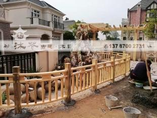 单排花架和弧形栏杆