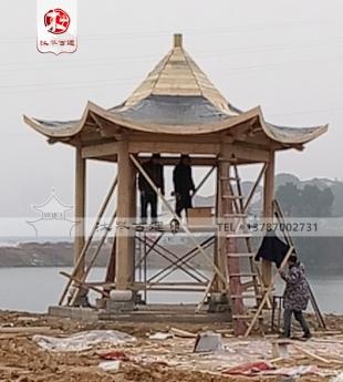 岳阳旅游区千赢国际|唯一官网六角亭施工中